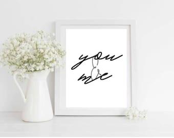 You & Me Printable