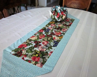Butterflies and Roses Table runner