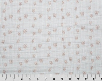 Double Gauze - Cotton Embrace by Shannon Fabrics - EMB Butterfly - Butterfly Embrace