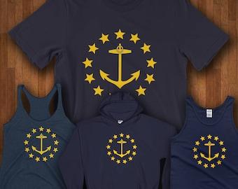 Rhode Island Shirt - Rhode Island State Flag From 1882 - Rhode Island Shirts