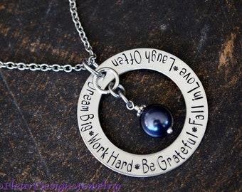 Dream Big Necklace, Inspirational Jewelry, Motivational Jewelry, Graduation Jewelry, Positive Message Jewelry
