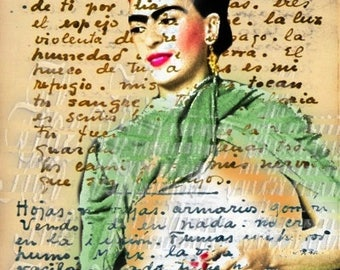 Fabric Frida Kahlo Diego Rivera Love Letter Quilt Crafts Block Mexican Art Applique FK205