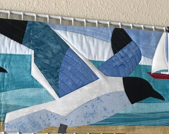 Row by Row 2015 Quilt Kit Birds Flying Sailboat Pattern Pre Cut Kit
