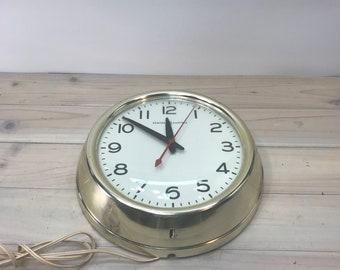 Vintage Clock  1950 General Electric, School Clock