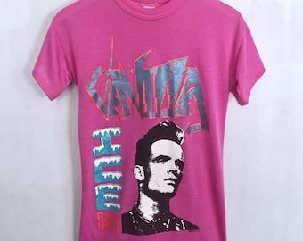 Vanilla Ice shirt 1990 vintage t shirt 90s hip hop clothing rap shirt band t-shirts Ice Ice Baby paper thin tee fuchsia pink small