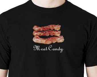 Bacon meat candy t shirt