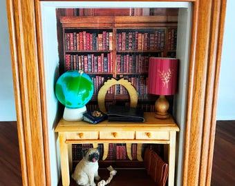 Office Shadow Box with Pug!