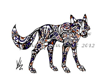 Native Fox 16 X 20 Giclee Print