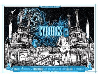 Cyborgs Gig Poster