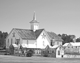 Barn Photograph, Black And White, Star Barn Photography, Metallic Paper, Barn And Outbuildings, Rural America, Den Decor Fine Art Wall Decor