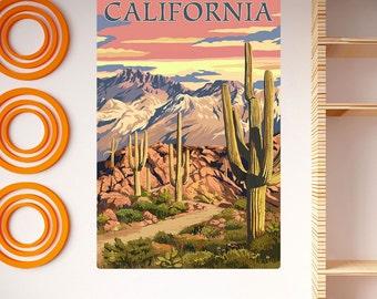 California Desert Landscape Wall Decal - #66393