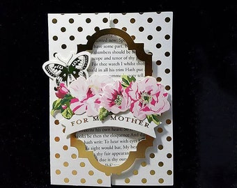 Handmade Flip Greeting Card - For Mother