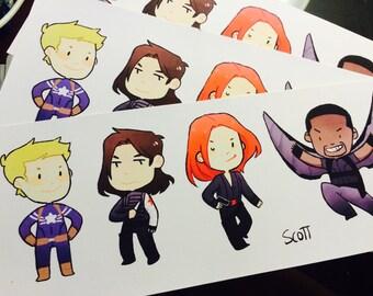 Captain America Sticker Sheets