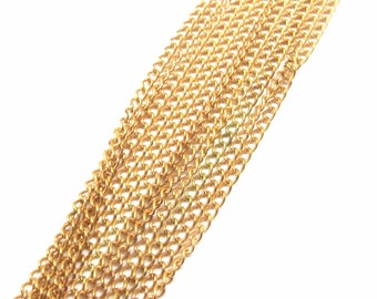 Vintage Brass Curb Chain - soldered (6 Feet) (C552)