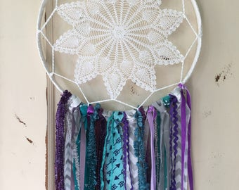Dream Catcher for Party and Room Decor.  Large dreamcatcher in YOUR choice of colors.  Accent and gift for birthdays, baby shower. Handmade.