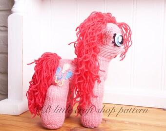 "My little pony ""Pinkie pie"" knitting pattern. Instant PDF download!"