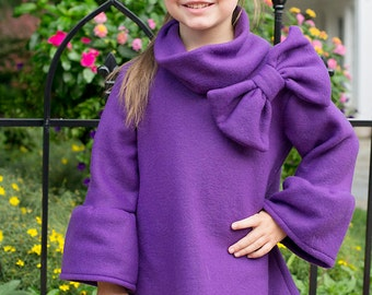 6- 8  Long Sleeve fleece dress