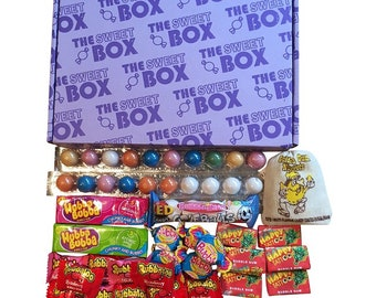 The Sweet Box Bubble Gum Chewing Gum Bubblegum Mixed Sweets Retro Gift Box