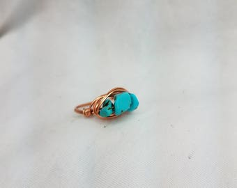 Stone wire wrapped ring// for her // gift for mom // mother // daughter // sister