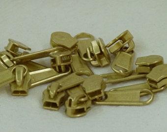 zipper pull 24  5 mm solid brass zipper pulls