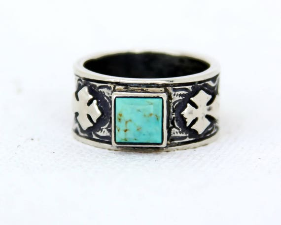 rockin out jewelry rockin out jewelry quin turquoise cross ring western 4056