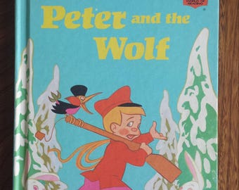 Peter And The Wolf - Walt Disney's  Children Books - Vintage Hardcover Classic Kids Books