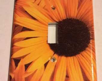 Yellow Flowers - Sunflowers Single Light Switch Plate Cover