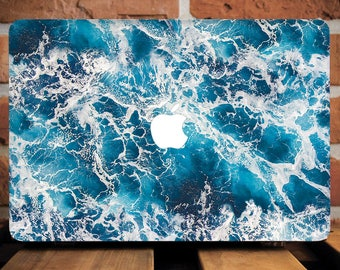 Ocean Macbook Pro 13 Case Beach Macbook Pro Case Custom Macbook Air Case Monogram Macbook Air 13 Hard Initials Personalized Laptop WCM2246