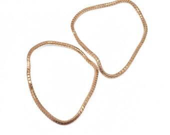 Set of 2 Copper Bracelets, Copper Bangles Set, Copper Bracelets Set, Stackable