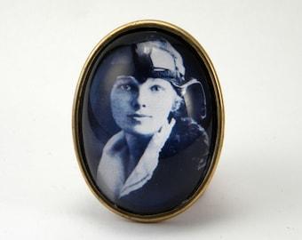 The Aviator - Amelia Earhart Pilot Brooch