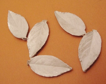 rose leaf castings sterling silver leaves silversmithing supplies UL034-5