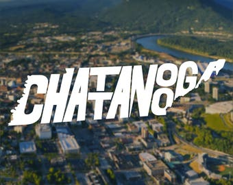 Chattanooga Decal, Chattanooga Sticker, Computer Decal, Computer Sticker, Laptop Decal, Laptop Sticker, Macbook Decal