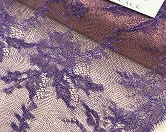 Solstiss lace trimming, Evening, purple lace trim, Chantilly Lace Trim, Lace Trimming, bras, panties trim, MK00243