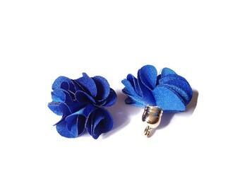 Electric blue fabric tassel