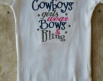 Dallas Cowboys Girl Bows and Bling Shirt