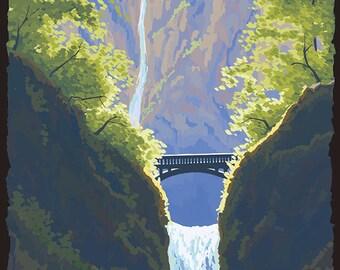 Multnomah Falls, Oregon (Art Prints available in multiple sizes)