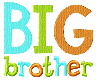 Big Brother Embroidery Design INSTANT download