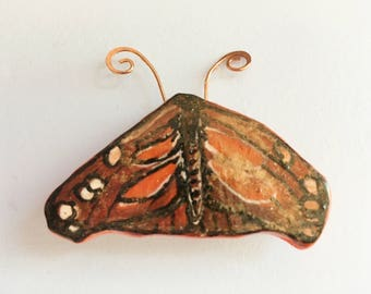 Gourd Pin:  American Snout Butterfly