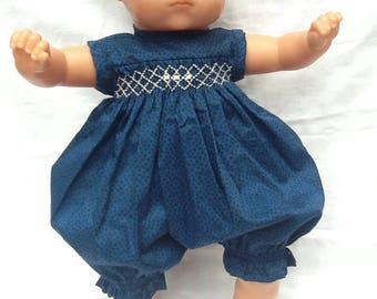 Liberty Navy Marco, romper has smocking for infants from 36 cm