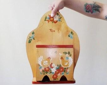 Vintage Hand Painted Tea Holder