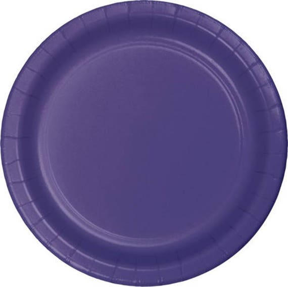 10 Ct Strong 9 Inch disposable Purple Large Paper Plates - Dinner - Luncheon Size Plates - Birthday - Shower - Party - All Occasion from favorboxboutique on ...  sc 1 st  Etsy Studio & 10 Ct Strong 9 Inch disposable Purple Large Paper Plates - Dinner ...