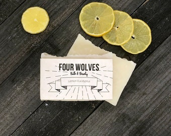 Lemon Eucalyptus Soap,All Natural Soap, Eucalyptus Soap, Vegan Soap, Handmade Soap, Citrus Soap, Hot process Soap, Lemon Soap