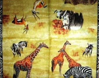 TOWEL in paper animals in the Savannah #AN096