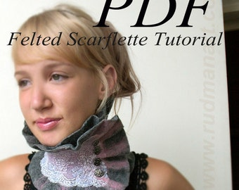 Felted Scarflette Tutorial Nunofelting in English PDF