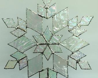 stained glass snowflake suncatcher (design 17)