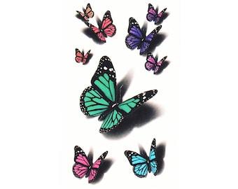 2pc butterfly print temporary tattoo sticker-10510x2