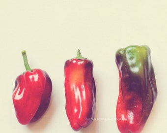 clearance sale, food print, hot peppers photograph, pepper print, red decor, southwest decor, spicy, kitchen wall art, chefs, garden