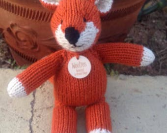 Fox Stuffed Animal, Woodland Fox,  All Natural, Eco-Friendly Natural Toy, Ready to Ship