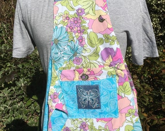 Reversible hand made apron