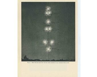 1959 TIME - MEAN & SOLAR print original vintage celestial astronomy lithograph